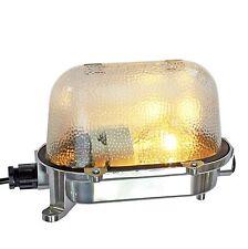 Fabrik- Bunker Ship Lamp Light Original Antique Old Industry Aluminium Ex » Slf