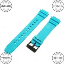 CASIO 10365963 Resin Rubber Watch Band f/ ILLUMINATOR F-108 F108WH-3A2 Turquoise