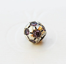 Genuine Pandora Purple Soccer Ball Charm - 790444ACZ - retired