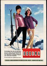 3w1858/ Alte Reklame von 1960 - BODEWA Strickwaren - Wanfried / Werra
