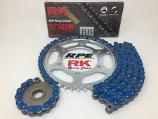 Blue 2011-18 Suzuki GSXR600 RK GXW 525 15/43 Quick Accel Chain and Sprockets Kit