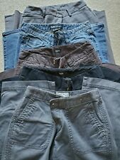 5 Pc Womens Clothing Lot Jeans and Pants Capri Cargo Size 2