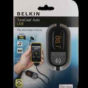 Belkin-AutoLive F8Z498TTP Tunecast FM Transmitter for Apple iPod iPhone4 4S 3 3G