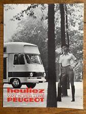 Brochure PEUGEOT J7 404 Camion Van Super Luxe HEULIEZ - Prospectus French RARE