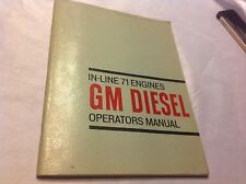 GM Diesel Operator's Manual for In-Line 71 Engines 1964