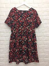 KUSHI Floral Dress Size 20 Grunge 90's Summer Holiday Boho Folk Tea Dress
