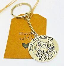 St Christopher Keyring, Safe journey, protection keepsake new driver talisman