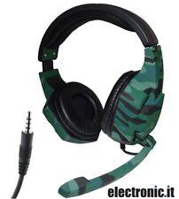 Cuffie Gaming con Microfono Tucci A3 - Verde scuro Camouflage