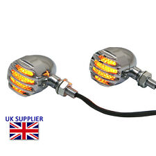 Clignotant LED pour Harley Davidson Sportster Dyna Prison Style Chrome Aluminium