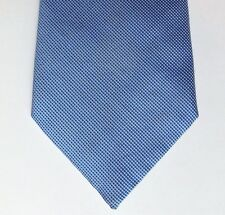 Cotton tie Marks and Spencer blue tiny check office or smart casual wear for men