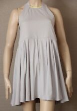 CAMILLA and MARC Size 10 (US 6) 'Monestry' DRESS Silver Grey, Lime Trim