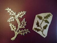 Sizzix Die Cutter Thinlits  Christmas Holly Branch fits Big Shot