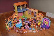 Dora the Explorer Talking Doll House Van Furniture Dolls Figures Babies Huge Lot