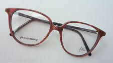 Filou große Brille Damen 70er Vintage Brillenfassung braun Hornoptik size L