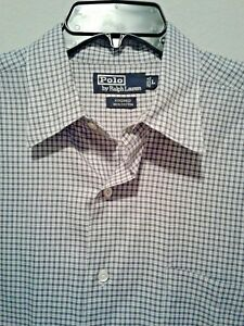 Polo by Ralph Lauren Mens Size L Long Sleeve Button Up Kindred Plaid Shirt