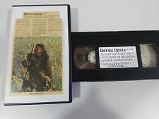 CINTA VIDEO VHS GRABADA COLECCIONISTA RETRO AÑOS 80 - DERSU UZALA AKIRA KUROSAWA