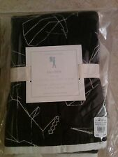 1 Pottery Barn Kids Braden Dino Stitched Standard Quilted Sham Black Nwt
