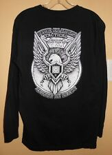 """5-11-Tactical  """"ALWAYS BE READY""""  long sleeve black Eagle T-SHIRT-Size M"""