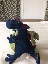 Manhattan Toy Plush Dragon Dk Blue Purple Green
