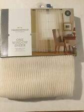 "One Pair Of Sheer Curtain Panels by Threshold Ivory 54"" x 84"""