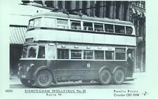 Pamlin Repro photo postcard M203 Birmingham Trolleybus No.50 on route 94