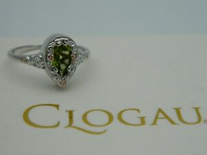 Clogau Silver & 9ct Rose Gold Enchanted Forest Peridot Ring RRP £119.00 size N