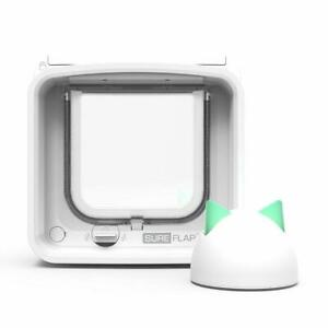 SureFlap Microchip Cat Door Connect with Hub Bundle No Collar or Tag Required