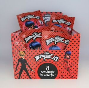5 x BANDAI MIRACULOUS LADYBUG MINI FIGURES SURPRISE BAGS, PARTY BAG FILLERS.
