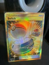Switch Trainer 160 NM Sun & Moon Base Set Secret Rare Pokemon Card