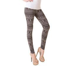Women Ladies Check Striped Stretchy Slim Leggings Pants Trousers Size 6 8 10 12 Check Black 8