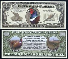 Lot of 500 Bills - Rooster Pheasant Million Dollar Novelty Bill