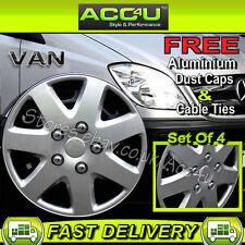 "Mercedes Benz Sprinter Van 16"" Silver 7 Spoke Curved Wheel Trims Hub Cap Covers+"