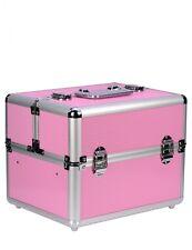 Malette multifonctionnel Professionnel aluminium Rose Manucure,Maquillage,
