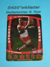 2011 Teamcoach Gold card #158 A.Goodes SYDNEY SWANS