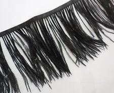 F102 PER 30cm-Black Long Ostrich feather fringe Trim Brooch/Fascinator Material