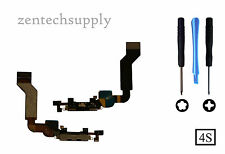 OEM New iPhone 4S 4GS Charging Port Dock Connector Mic Flex Ribbon Cable (Black)