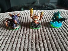 2011 Activision Skylanders Figurines x 3 used for wii console. Great condition.