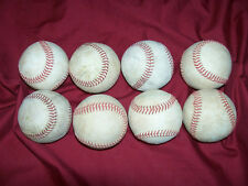 8 Used Baseballs Baden Wilson Baseball Major Little League Practice Game Balls
