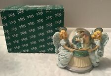 Vintage San Francisco Music Box Hark The Herald Angels Sing Snow Globe -Retired