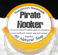 PIRATE HOOKER Unisex Shave Soap Tropical Mango Papaya Argan Oil Stocking Stuffer