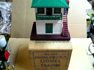 Lionel 445 switch tower with box