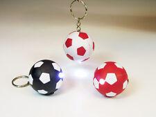 18x Taschenlampe Fußball Schlüsselanhänger 4 cm LED Taschenlampe versch. Farben