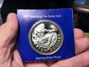 1975 Barbados Proof Silver 10 Dollars