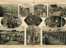 Training Maneuvers Camps US Army Tommies Entraînement Manoeuvres France 1917 WWI