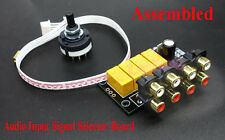 Assembled 4 Select 1 Audio Input Signal Selector Board Relay Switching Module