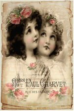 VinTaGe ImaGe ViCtoRiaN AnGeL FreNcH LaBeLs ShaBby WaTerSliDe DeCals