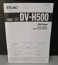 teac dv-4500 manuale inglese-francese