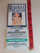 Madonna Concert Ticket Cologne Germany Blond Ambition Tour 1990 MB2
