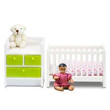 Babybettchen Baby Smaland Puppenhaus Lundby neue Verpackung grün
