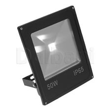 50W COB Outdoor LED Flood Light 6000K Daylight IP65 Black Waterproof